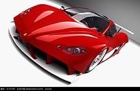红色概念车设计图片