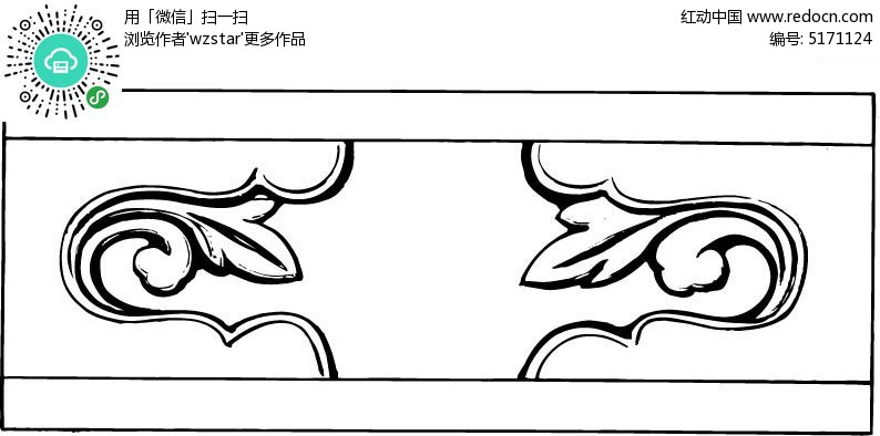 花卉手绘雕刻浮雕图案素材