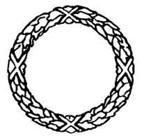 环形麦穗图案边框