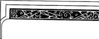 简单线条设计镂空花纹素材下载