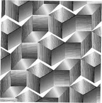 几何阴影立体拼花图案