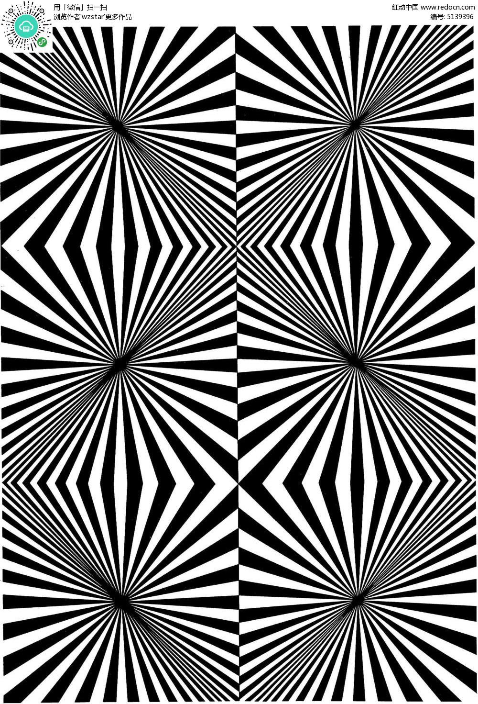 菱形渐变斜线构成图