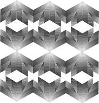 菱形镂空阴影花纹