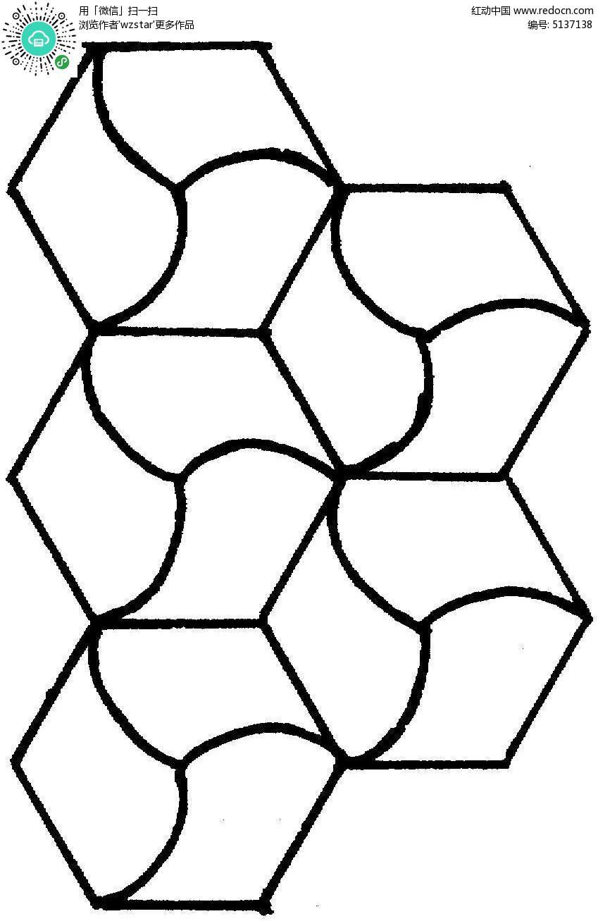 六边形内部曲线切割组合图形TIF素材免费下载 编号5137138 红动网