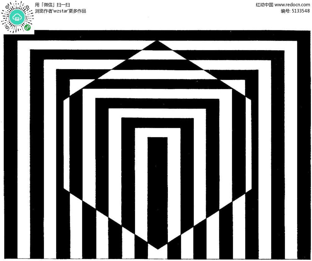 六边形中心放大线框TIF素材免费下载 编号5133548 红动网