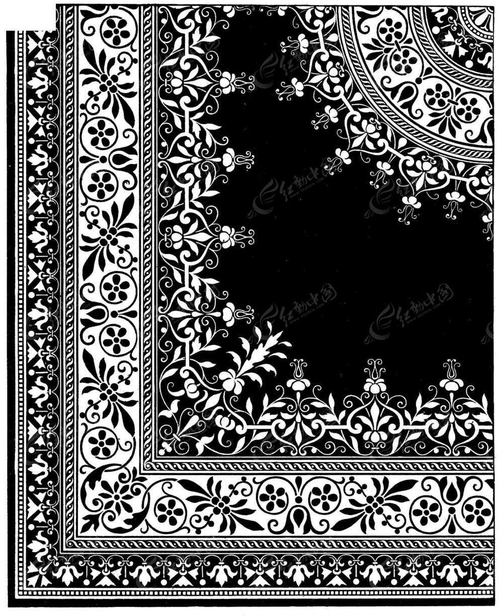 欧式风格镂空花纹边框图案