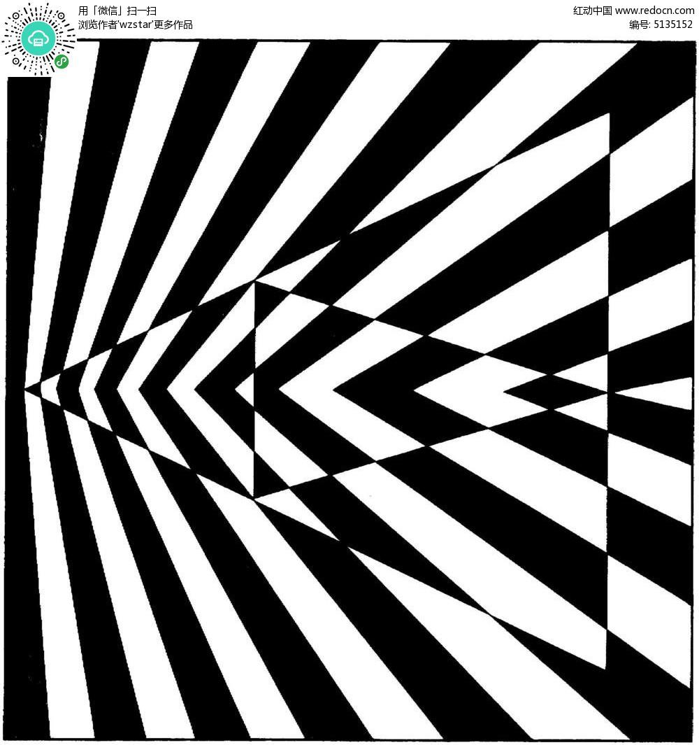 三角黑白花纹图片