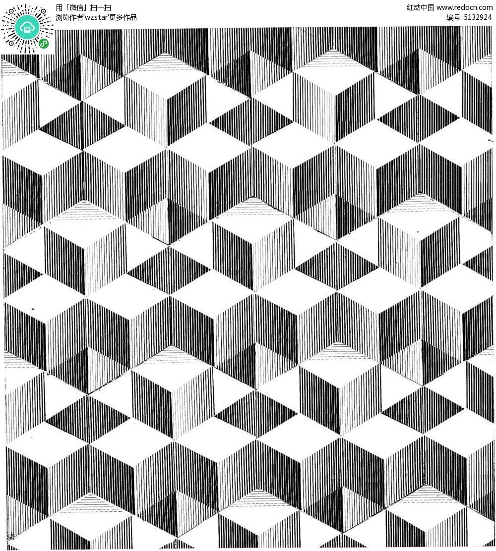 手绘平面构成素材