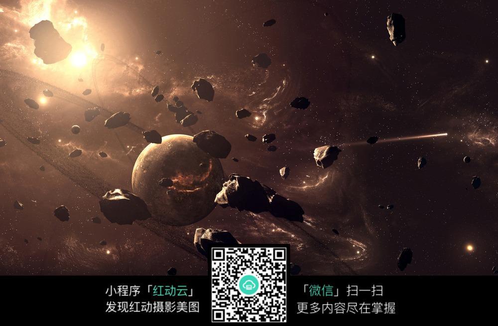 免费素材 图片素材 现代科技 宇宙太空 太空中的陨石