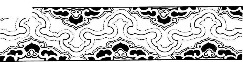 庭院局部手绘黑白图