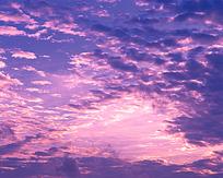 唯美晚霞天空