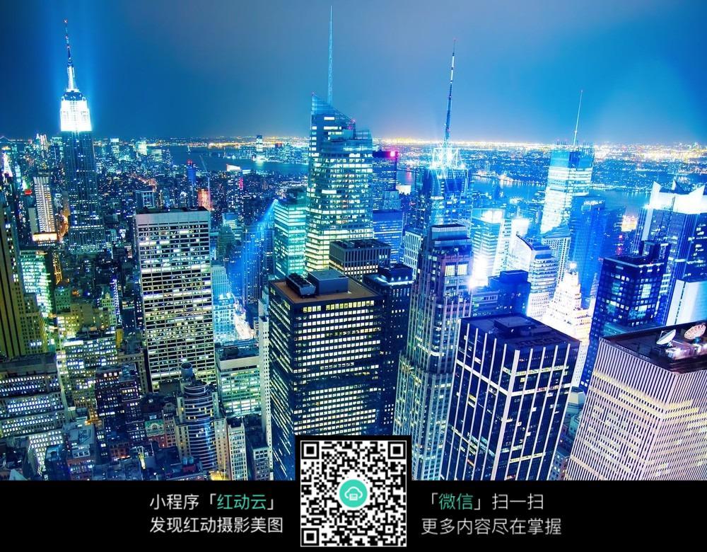 星光熠熠的城市夜景图片