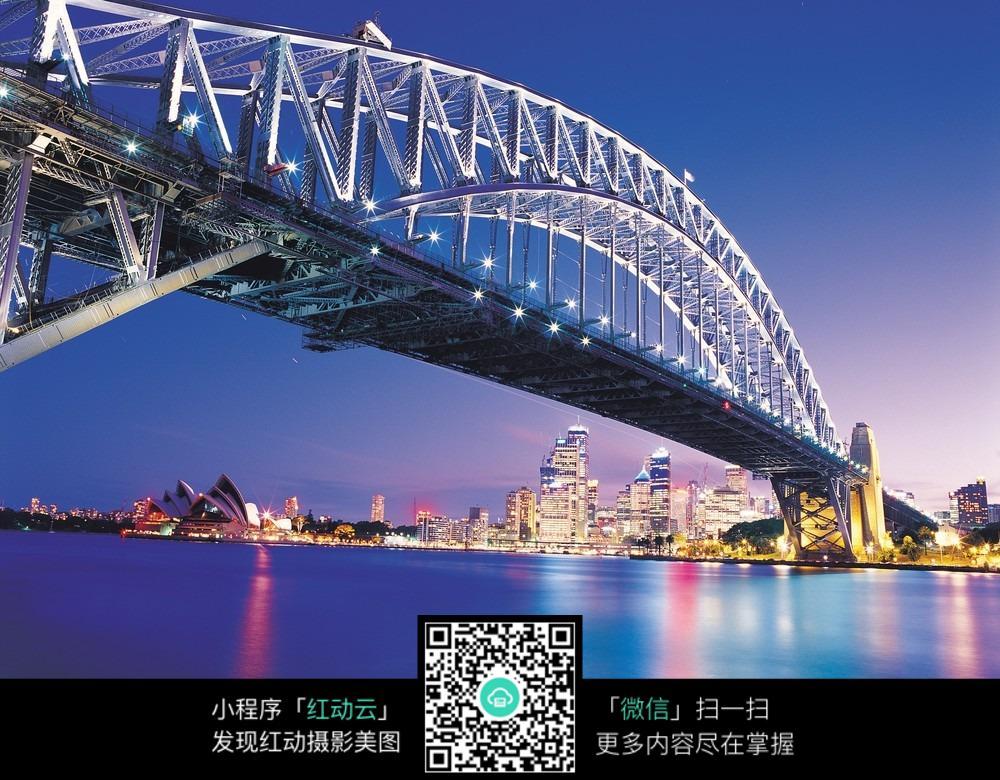 夜晚的桥图片免费下载_红动网