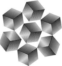 阴影立方体组合花纹