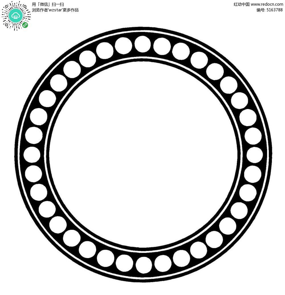 圆形创意边框设计eps素材免费下载_红动网