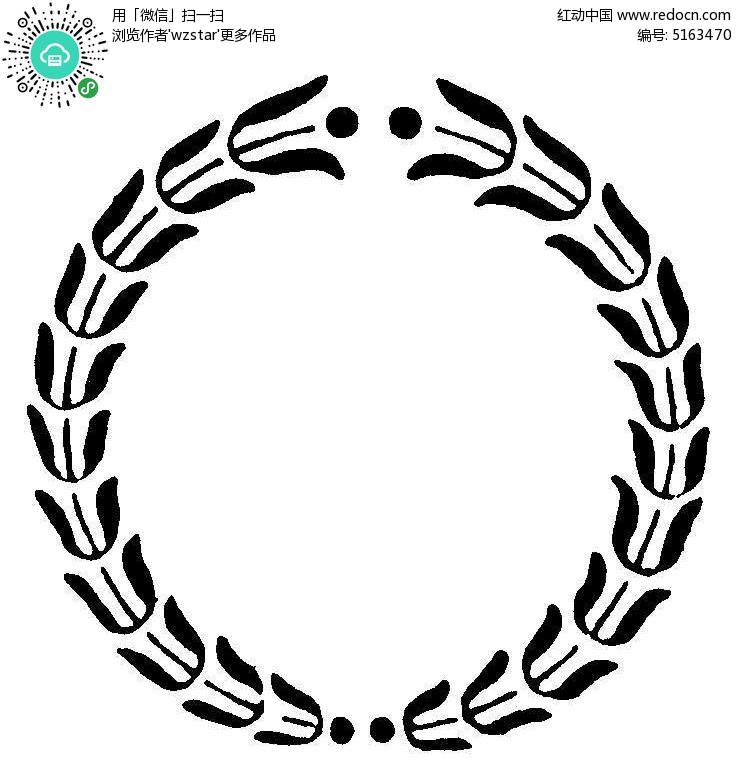 圆形创意黑色边框设计图片