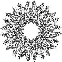 圆形套叠花纹镂空psd素材