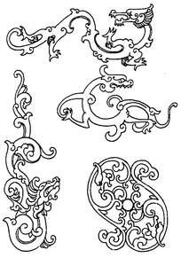 草龙装饰花纹
