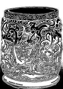 浮雕龙形花纹