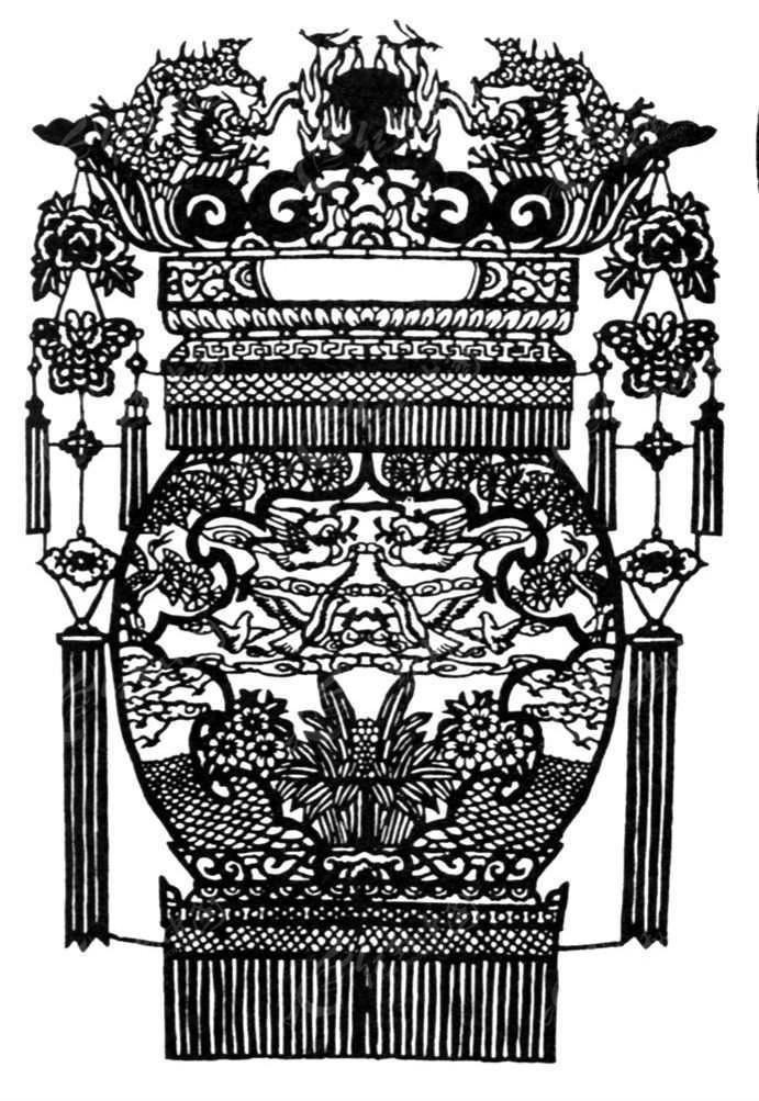 免费素材 psd素材 psd花纹边框 印花图案 古代龙形装饰灯笼