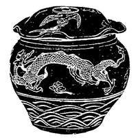 古代陶瓷龙纹