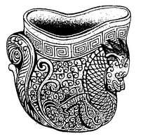 古典酒杯装饰龙纹