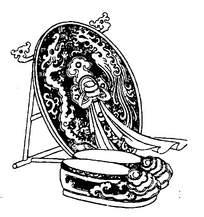 古典龙凤刺绣