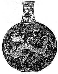 古典龙纹装饰花瓶