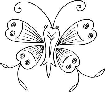 花蝴蝶雕刻素材