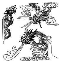 龙王吐水花纹