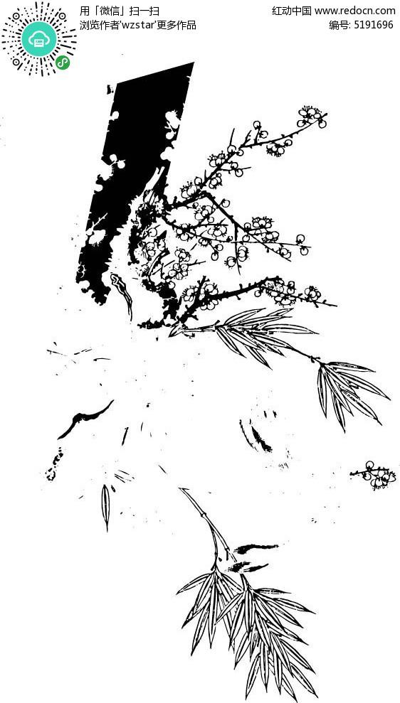 梅花雕刻素材