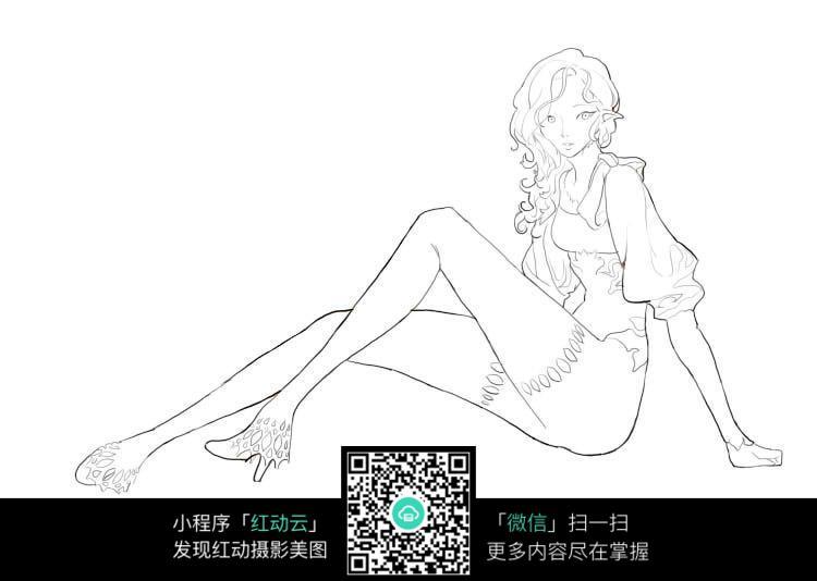 女动漫人物手绘