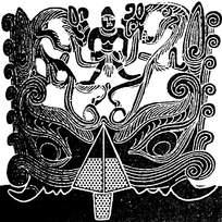 少数民族装饰龙纹