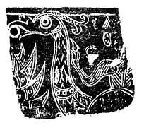 石刻龙纹瓦当