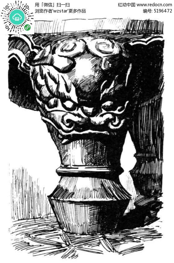 手绘家具雕刻龙纹