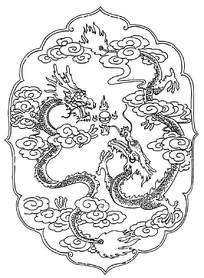 双龙戏珠装饰花纹