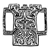 瓦当装饰龙纹