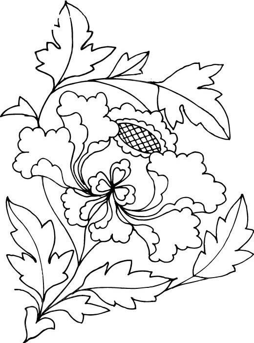 向日葵花纹图案