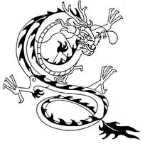 中国传统黑白龙纹