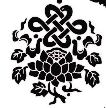 免费素材 矢量素材 花纹边框 其他 中国结莲花图案图片