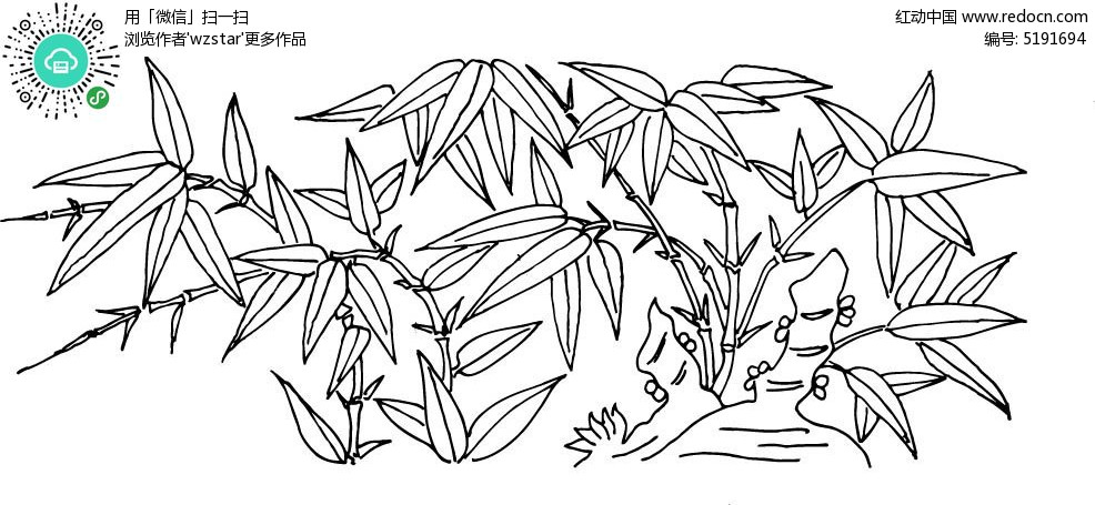 竹子竹叶雕刻素材AI免费下载 编号5191694 红动网