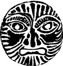 抽象人脸树叶简笔画