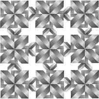 方形黑白阴影拼花