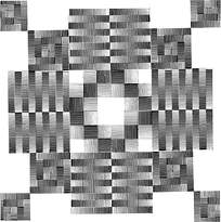 方形几何拼花