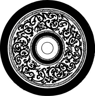 古典圆形花纹图案矢量图