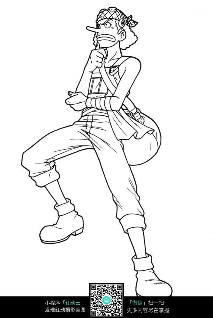 海贼王骗人布铅笔手绘图图片