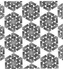 黑白几何组合花纹