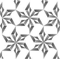 黑白阴影线条拼花