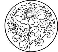 简单圆形花纹矢量图