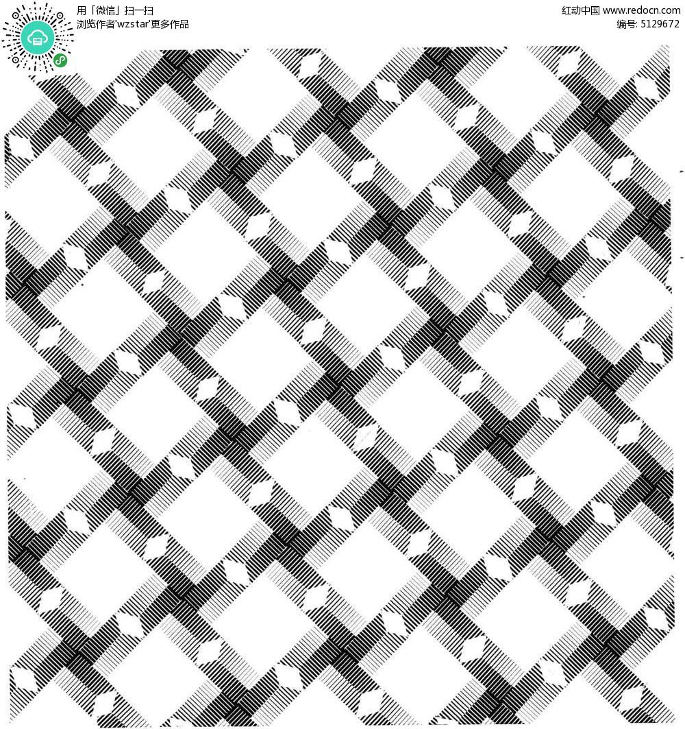 镂空黑白组合花纹 组合阴影黑白花纹 几何叠加图案 黑白拼接花纹背景